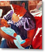 Mother And Newborn Child Metal Print by Kathy Braud