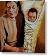 Mother And Son Metal Print by Joni McPherson