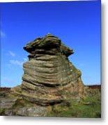 Mother Cap Gritstone Rock Formation, Millstone Edge Metal Print