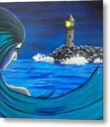 In The Glow Of The Lighthouse  Metal Print