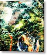 Mother Earth Sister Moon Metal Print