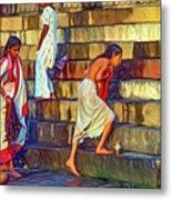 Mother Ganges - Paint Metal Print