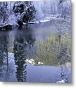 Mother Natures Chilling Touch Metal Print