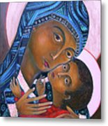 Mother Of God And Child Metal Print