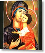 Mother Of God Antiochian Orthodox Icon Metal Print by Patrick Kelly