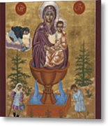 Mother Of God Life Giving Spring With Mother Macaria Of Russia And Blessed Margaret Of Castello 179 Metal Print