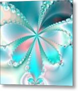 Mother Of Pearl Butterfly Metal Print