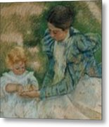 Mother Playing With Child Metal Print