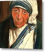 Mother Teresa  Metal Print by Carole Spandau