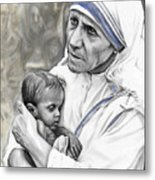 Mother Teresa. God Bless This Child Metal Print