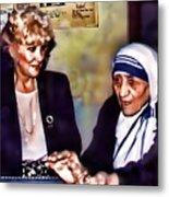 Mother Teresa In Calcutta Metal Print