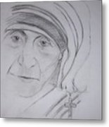 Mother Theresa Metal Print
