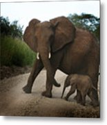 Mother With Baby Metal Print