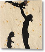 Mother With Children  Metal Print