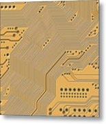 Motherboard - Printed Circuit Metal Print by Michal Boubin