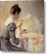 Motherhood Metal Print by Louis Emile Adan