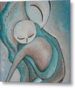 Motherhood Painting My Baby Original Oil By Gioia Albano Metal Print