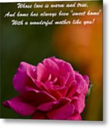 Mother's Day Card 2 Metal Print