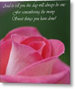 Mother's Day Card 3 Metal Print