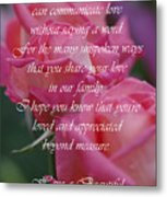 Mother's Day Card 6 Metal Print