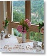 Mother's Day Card - German Cafe Metal Print