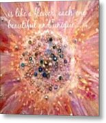 Mothers Day Greeting Card Metal Print