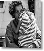 Mothers Day - Mommy Is Home From The War Metal Print