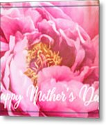 Mother's Day Peony Metal Print