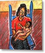 Mother's Touch Metal Print