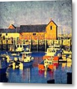 Motif No. 1 - Sunset Digital Art Oil Print Metal Print