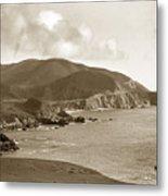 Notleys Landing Big Sur Coast Circa 1933 Metal Print