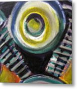 Motorcycle Abstract Engine 2 Metal Print