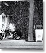 Motorcycle In Big Spring Tx Metal Print