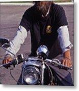 Motorcycle Minister Metal Print