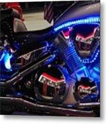 Motorcycle Mirror Metal Print
