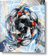 Motorcycle Mixup Metal Print