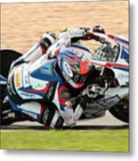 Motorcycle Racing Metal Print