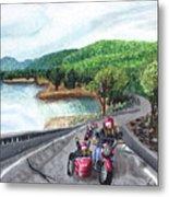 Motorcycle Ride Metal Print