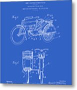 Motorcycle Sidecar Patent 1912 - Blueprint Metal Print