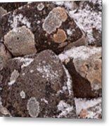 Mottled Stones Metal Print