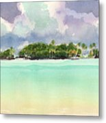 Motu Rapota, Aitutaki, Cook Islands, South Pacific Metal Print