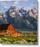 Moulton Barn Metal Print by Randall Roberts