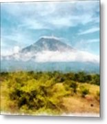 Mount Agung On The Island Paradise Of Bali Metal Print