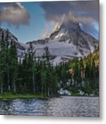 Mount Assiniboine In Clouds Metal Print