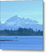 Mount Baker From The Spit Metal Print