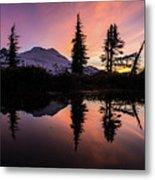 Mount Baker Sunrise Reflection Metal Print