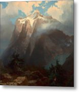 Mount Brewer From King's River Canyon - California Metal Print