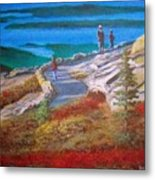 Mount Cadilac Path Metal Print