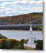 Mount Carmel And The Mid Hudson Bridge Metal Print