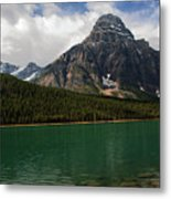 Mount Chephren From Waterfowl Lake - Banff National Park Metal Print